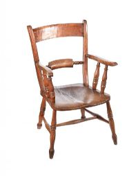 ANTIQUE ELM COUNTRY ARMCHAIR at Ross's Auctions