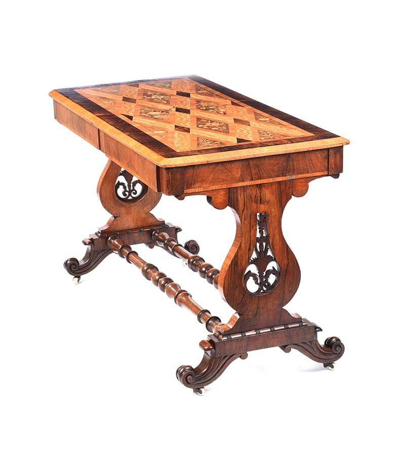 WILLIAM IV INLAID SIDE TABLE at Ross's Online Art Auctions