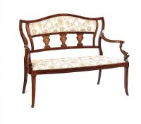 EDWARDIAN INLAID PARLOUR SETTEE at Ross's Auctions