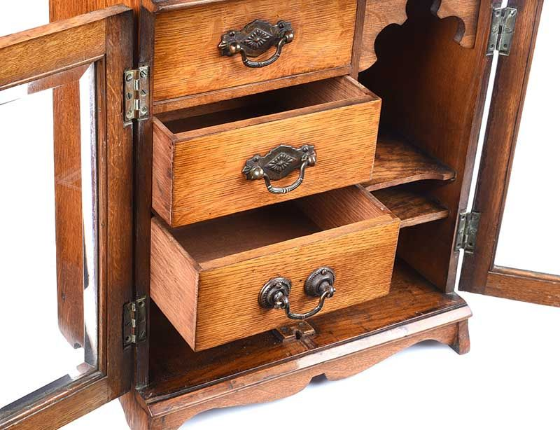 ANTIQUE OAK SMOKER'S CABINET at Ross's Online Art Auctions