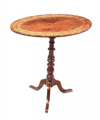 GEORGIAN INLAID LAMP TABLE at Ross's Auctions