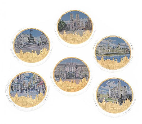 SET OF SIX COMMEMORATIVE COINS at Ross's Online Art Auctions