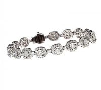 18CT WHITE GOLD DIAMOND BRACELET at Ross's Auctions