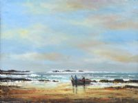 ACHILL FISHERMEN by Norman J.  McCaig at Ross's Auctions
