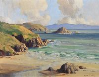 DUNMORE HEAD, COUNTY KERRY by Maurice Canning  Wilks ARHA RUA at Ross's Auctions