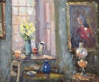 INTERIOR WITH LAMP by Liam Treacy at Ross's Auctions