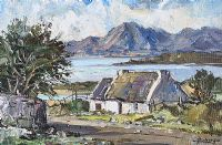 THE MOURNE MOUNTAINS FROM DUNDRUM BAY by Rowland Hill RUA at Ross's Auctions