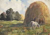 HORSES GRAZING by James Humbert Craig RHA RUA at Ross's Auctions