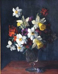 STILL LIFE, FLOWERS by Hans Iten RUA at Ross's Auctions
