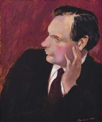PORTRAIT OF PATRICK PEARSE O'MALLEY by Neil Shawcross RHA RUA at Ross's Auctions