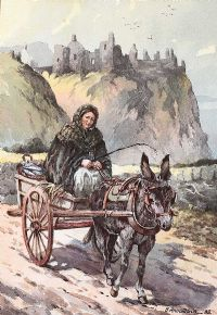 SHAWLIE ON THE ROAD BY DUNLUCE CASTLE by Bobbie Anderson at Ross's Auctions