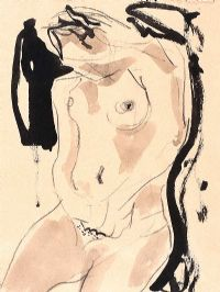 NUDE by Basil Blackshaw HRHA HRUA at Ross's Auctions