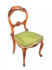 VICTORIAN WALNUT OCCASIONAL CHAIR at Ross's Auctions