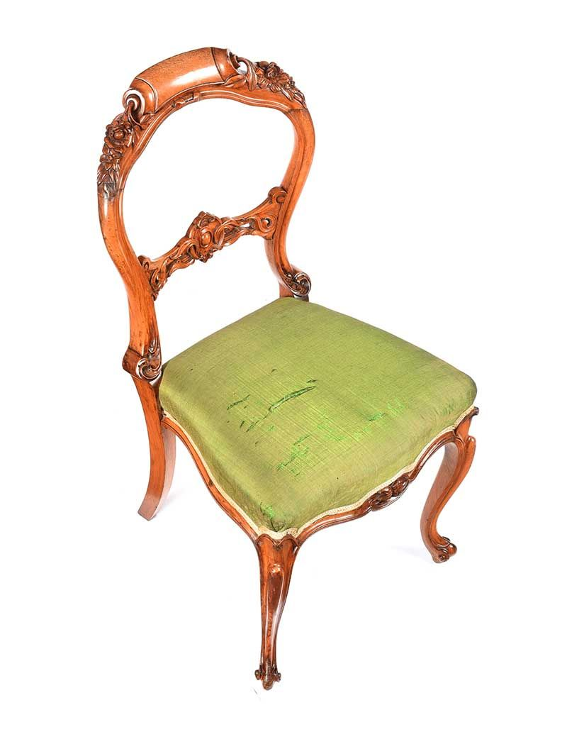 VICTORIAN WALNUT OCCASIONAL CHAIR at Ross's Online Art Auctions
