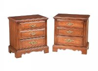 PAIR OF WALNUT TWO DRAWER BEDSIDE PEDESTALS at Ross's Auctions