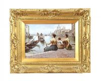 VERY FINE GILT FRAMED OIL PAINTING - ANTONIO PAOLETTI at Ross's Auctions