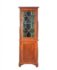 EDWARDIAN INLAID MAHOGANY CORNER CABINET at Ross's Auctions