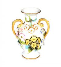 NINETEENTH CENTURY ENGLISH PORCELAIN TWO HANDLED VASE at Ross's Auctions