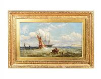 GILT FRAMED OIL PAINTING - JAS E. MEADOWS at Ross's Auctions