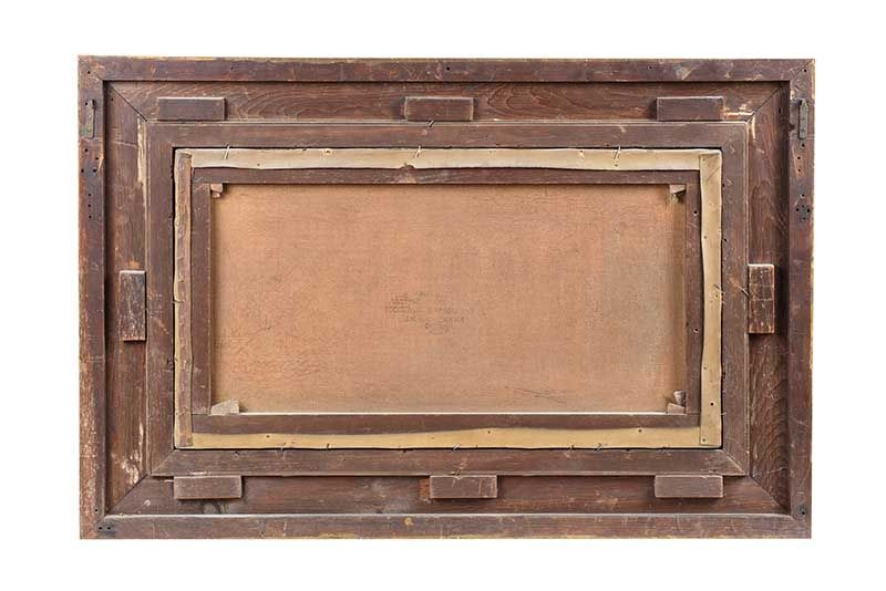 GILT FRAMED OIL PAINTING - JAS E. MEADOWS at Ross's Online Art Auctions