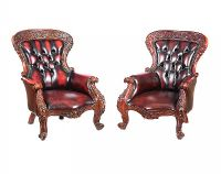 PAIR OF LEATHER ARMCHAIRS at Ross's Auctions