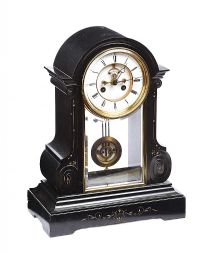 VICTORIAN SLATE CLOCK at Ross's Auctions