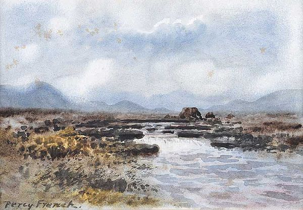 RIVER & BOGLANDS, CONNEMARA by William Percy  French at Ross's Online Art Auctions