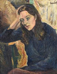 PENSIVE MOMENT by Ronald Ossary Dunlop, RA at Ross's Auctions