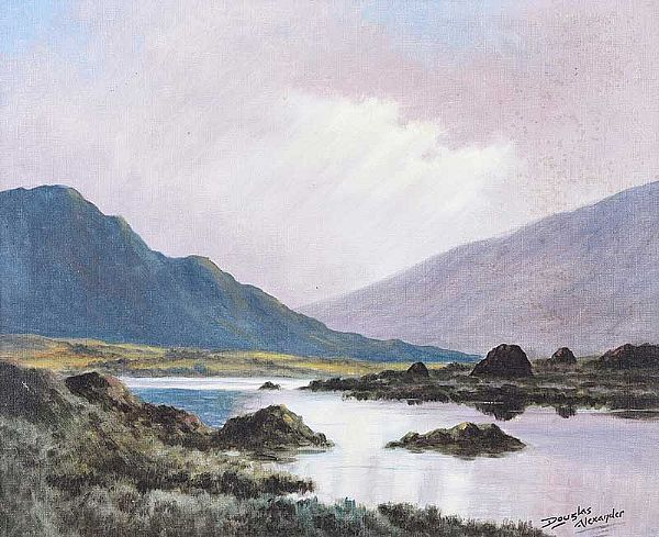 NEAR DELPHI, CONNEMARA by Douglas Alexander RHA at Ross's Online Art Auctions
