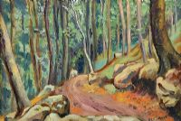 WOODLAND PATH by Romeo Charles Toogood RUA ARCA at Ross's Auctions