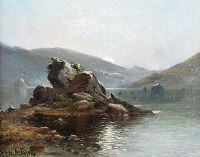 THE COLLEEN BAWN ROCK, KILLARNEY by Alfred F. De Breanski at Ross's Auctions