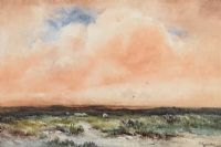 SHEEP GRAZING ON THE MOORS by Wycliffe Egginton RI RCA at Ross's Auctions