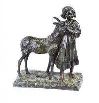 GIRL WITH A DONKEY by After Giovanni De Martino at Ross's Auctions