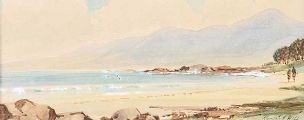 MOURNE MOUNTAINS FROM TYRELLA by Rowland Hill RUA at Ross's Auctions