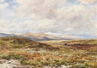 BY MOUNTAIN & MOORLAND (SNOWDON IN THE DISTANCE) by Edmund Morison Wimperis RI at Ross's Auctions