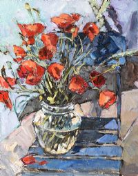 STILL LIFE, POPPIES by Roger Collin at Ross's Auctions