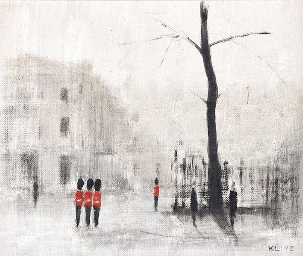 GUARDSMEN, LONDON by Anthony Klitz at Ross's Online Art Auctions