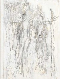 FIGURE STUDY by Basil Blackshaw HRHA HRUA at Ross's Auctions