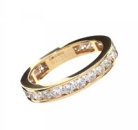 18CT GOLD DIAMOND ETERNITY RING at Ross's Jewellery Auctions