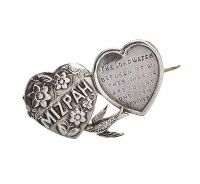 STERLING SILVER MIZPAH BROOCH  at Ross's Jewellery Auctions