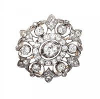 VICTORIAN DIAMOND BROOCH at Ross's Auctions