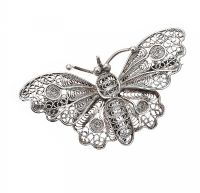 SILVER BUTTERFLY BROOCH at Ross's Jewellery Auctions