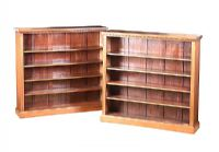 PAIR OF EDWARDIAN MAHOGANY OPEN BOOKCASES at Ross's Auctions