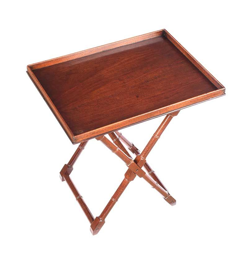 MAHOGANY BUTLER'S TRAY ON STAND at Ross's Online Art Auctions