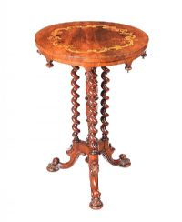 VICTORIAN INLAID WALNUT LAMP TABLE at Ross's Auctions