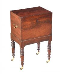 REGENCY MAHOGANY CELLARETTE at Ross's Auctions