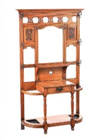 VICTORIAN OAK HALL STAND at Ross's Auctions