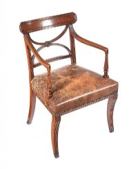 GEORGIAN MAHOGANY DESK CHAIR at Ross's Auctions