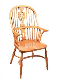 ELM WINDSOR CHAIR at Ross's Auctions