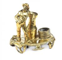 ANTIQUE BRASS INKWELL at Ross's Auctions